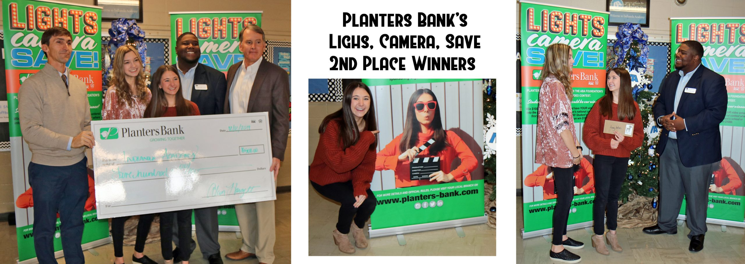 Audrey Jenkins and Kristi Ray won $500 for placing second in the Planters Bank Lights, Camera, Save video contest.